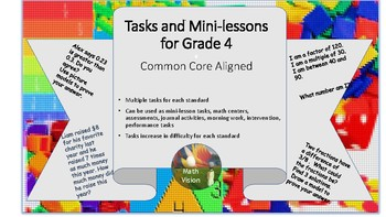 Tasks and Mini-lessons for Grade 4 - All Standards