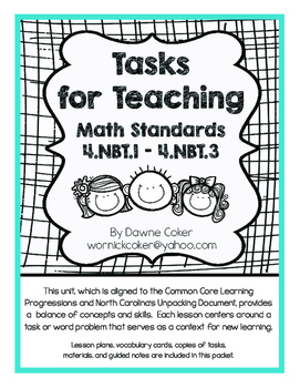 Tasks for Teaching 4.NBT.1 - 4.NBT.3