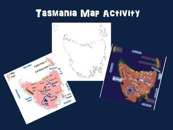 Tasmania Map Activity- fun, engaging, follow-along 15-slide PPT