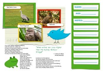 Tasmanian Animal Hunt (Brochure Format)
