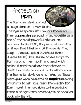 Tasmanian Devil-A Research Project