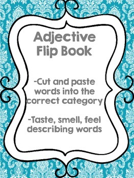 Taste, Smell, Touch Adjective Flipbook