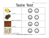 Taste Test Worksheet
