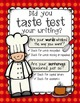 FREEBIE: Taste Test Your Writing! {A Fresh Take on Editing}