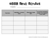 Taste Testing Chart Worksheet
