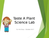 Taste a Plant Science Lab - Learning the Parts of a Plant