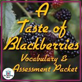 A Taste of Blackberries Vocabulary and Assessment Bundle