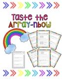 Taste the Array-nbow- Array Activity