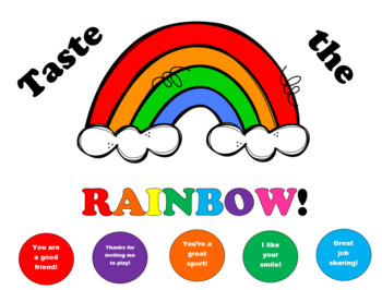 Taste the Rainbow Compliment Poster FREEBIE