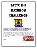 EDITABLE Taste the Rainbow Sight Word Challenge, Sight Wor