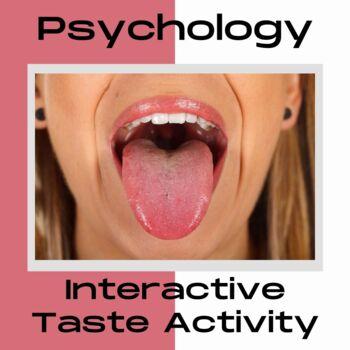 Taste the Tongue Worksheet
