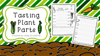 Tasting Plant Parts- An Explore and Taste Activity