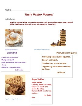 Tasty Pastry Poetry Homework
