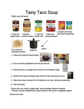 Tasty Taco Soup - a picture supported recipe