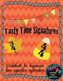 Tasty Time Signatures Fall Music Worksheets
