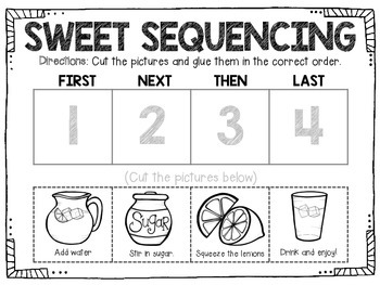 Tasty Treat- Sequencing Language Activity
