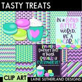 Tasty Treats Macaron & Coffee Digital Paper & Clip Art Set