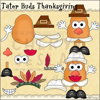 Tater Buds Thanksgiving Clipart Collection