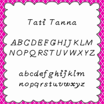 Tati Tanna Font {personal and commercial use; no license needed}