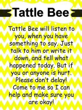 Tattle Bee Poster