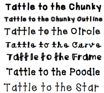 Tattle Fonts