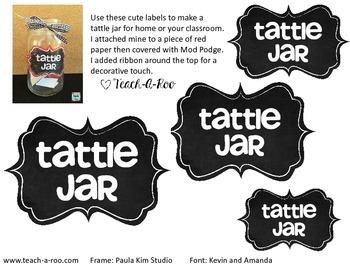Tattle Jar Label Freebie!