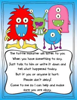 Tattle Monster By Heather Rill Teachers Pay Teachers