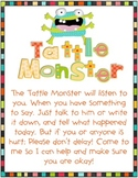 Tattle Monster Classroom Management Poster