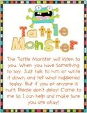 Tattle Monster Classroom Management Poster