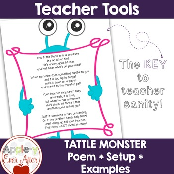 Tattle Monster Poem and Setup!