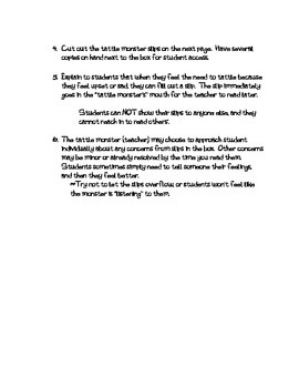 Tattle Monster behavior system