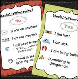 Tattling Posters for Back to School Behavior Management