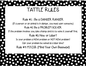 Tattle Rules Poster