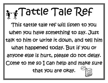 Tattle Tale Ref Poem Sports