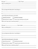 Tattle Telling - Tattling Report Form :)