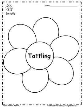 Tattle Tongue Activity Packet