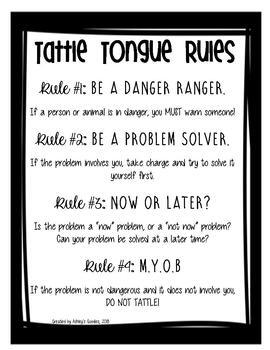 Tattle Tongue Companion Packet