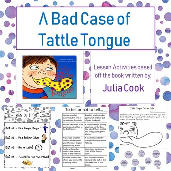Tattle Tongue Social Lesson
