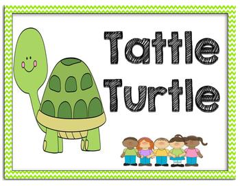 Tattle Turtle Sign