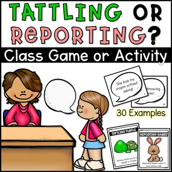 Tattle or Report Activity and Example Cards