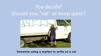 Tattling; Don't Rat on Your Friends; A lesson on telling for older kids