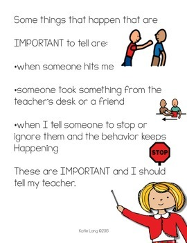 Social Story-Tattling: How to Decide When to Tell