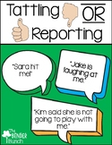 Tattling OR Reporting Activity Cards