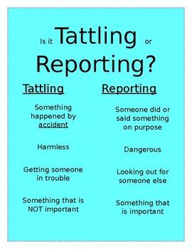 Tattling & Reporting