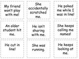 Tattling Social Skills Cards