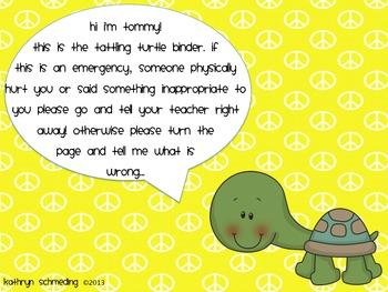 Tattling Turtle Binder