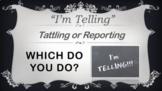 Tattling VS Reporting 7 Little Monsters No Prep SEL Lesson w Video PBIS MTSS