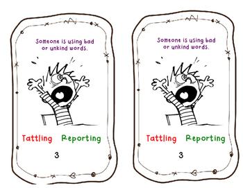 Tattling VS. Reporting mini book