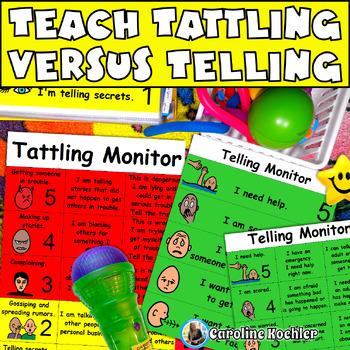 Tattling: Visuals to Define Tattling Versus Telling