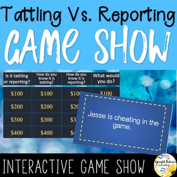 Tattling Vs Reporting Digital Game Show